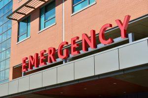 hospital emergency room entrance